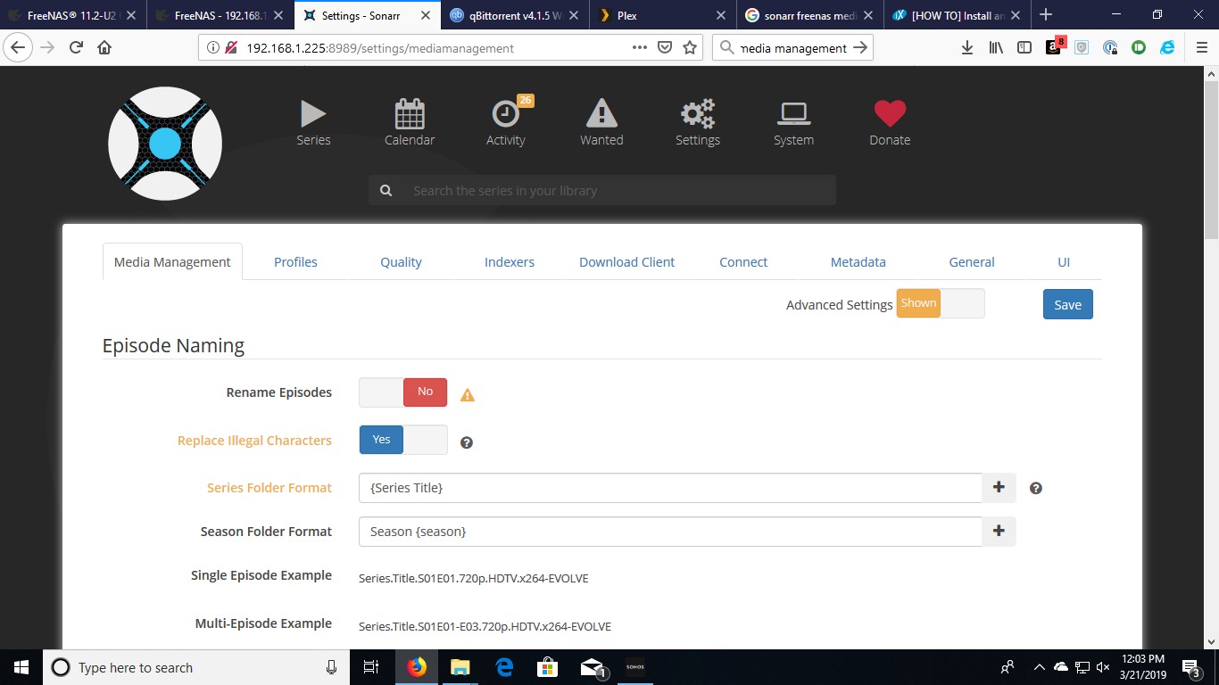 HOW TO] Install and configure sonarr, radarr, and sabnzbd