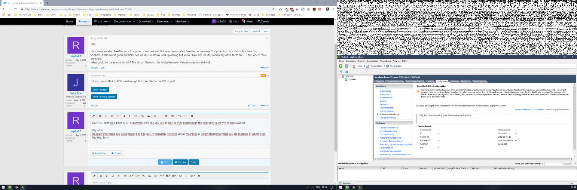 FreeNas auf vSphere Hyervisor a lot slower | iXsystems Community