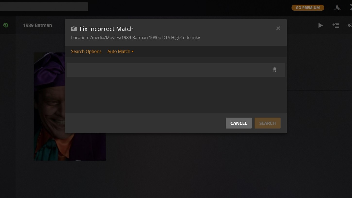 Plex Media Server stopped updating information for newly added