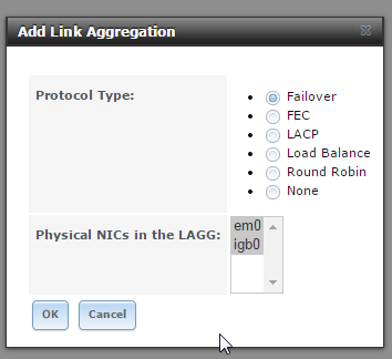 SOLVED - link aggregation, can only select 1 interface