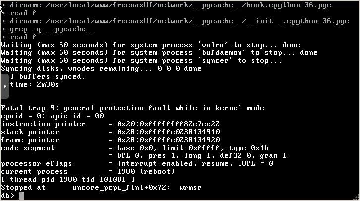 Shutdown issue when running under Proxmox | iXsystems Community