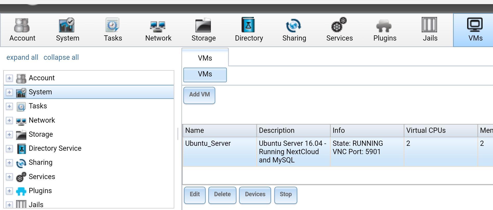 VM Console   iXsystems Community