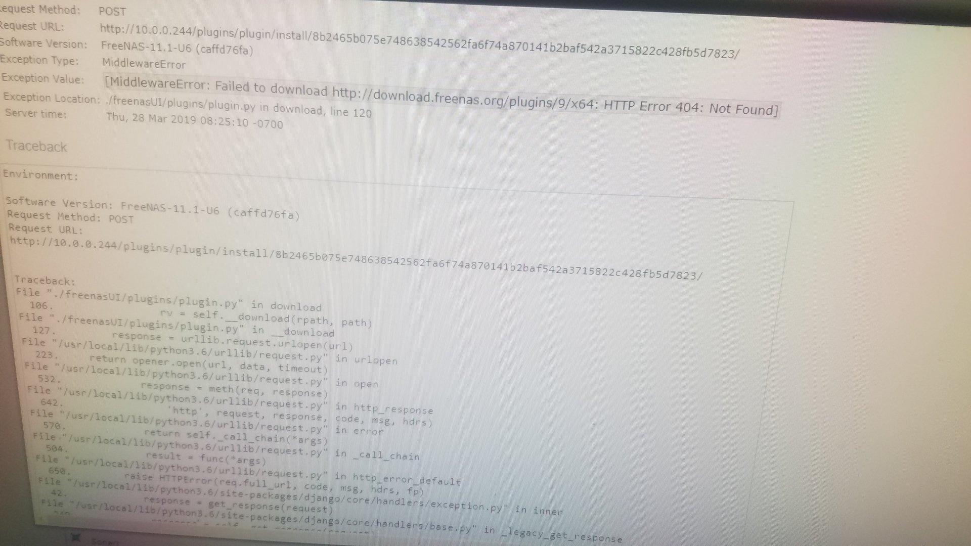 PLEX plugin not available | iXsystems Community