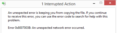 Network Error 0x8007003B only when moving files to FreeNAS