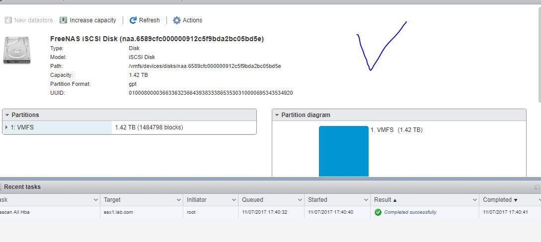 Migrated iSCSI device identified in ESXi but can't add
