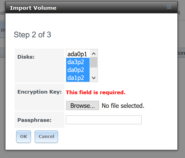 Import encrypted volume into 9 10 2 | iXsystems Community