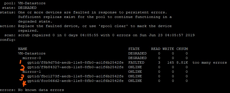 Degraded pool - bad or missing disk? | iXsystems Community