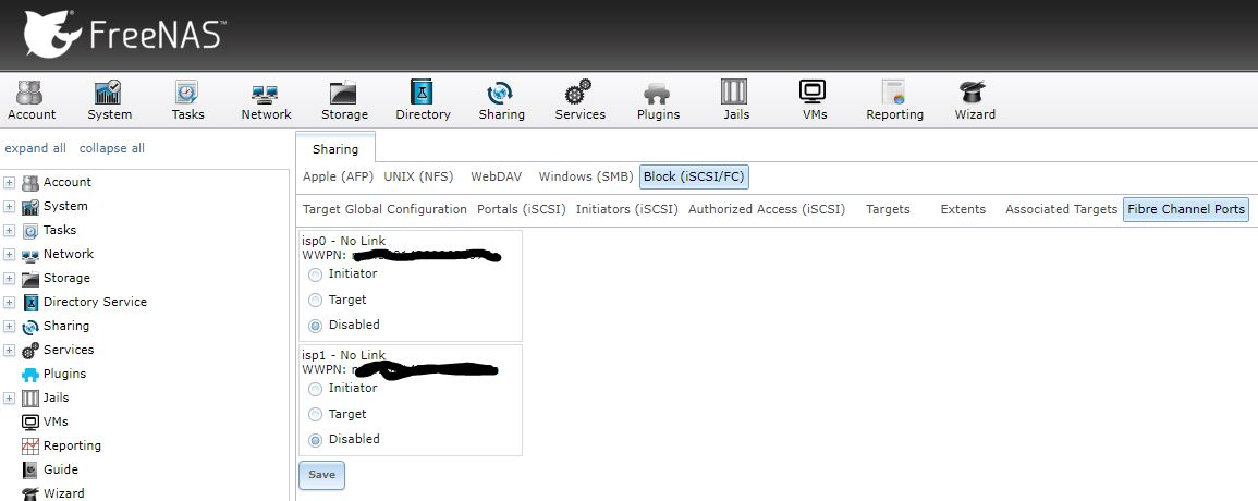 A FreeNAS Fibre Channel UI would be nice    | iXsystems