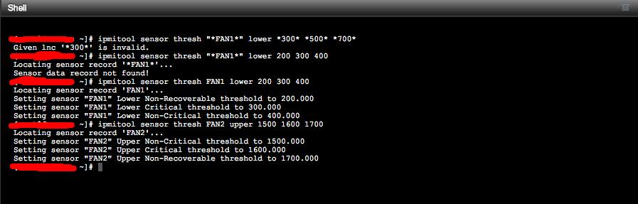 How To: Change IPMI Sensor Thresholds using ipmitool   Page