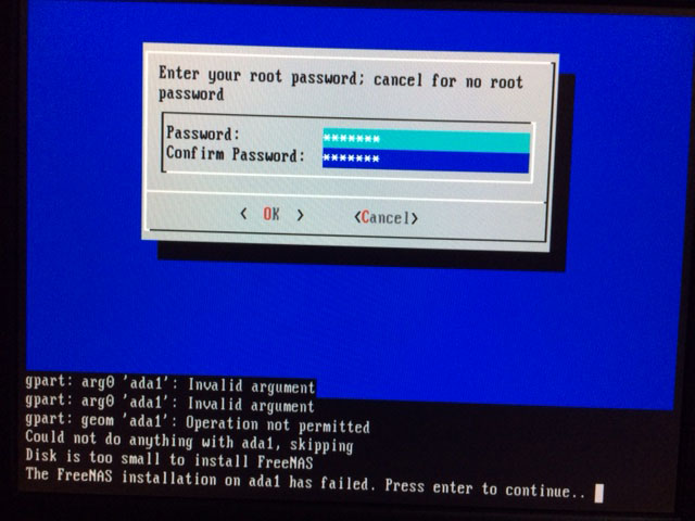 SOLVED - 30GB IDE disk too small for install as boot