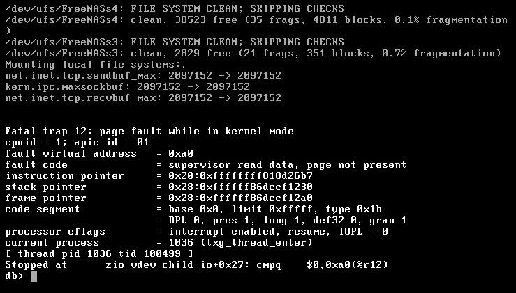 ZFS pool import crashes FreeNAS 9 2 0 x64 VM | iXsystems Community
