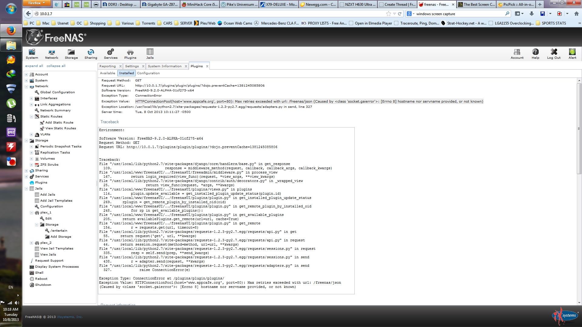 Using static IP disables Plugins/Plex   iXsystems Community