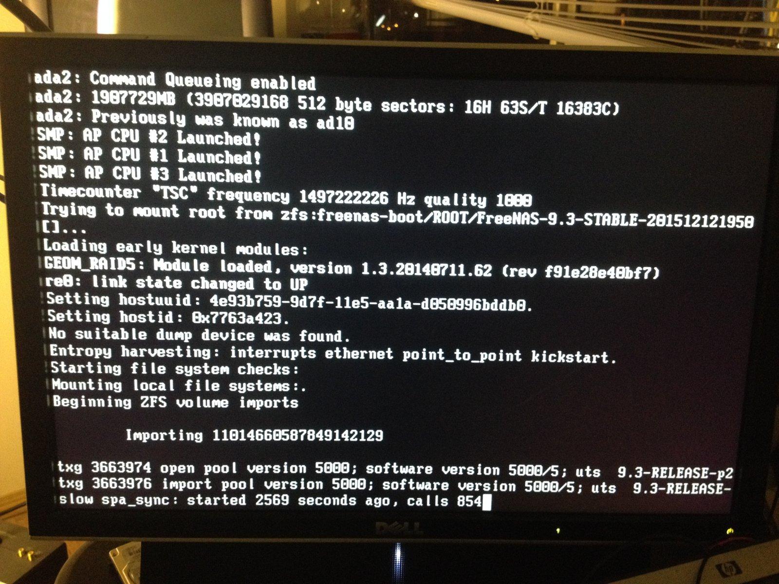 FreeNAS Won't start   iXsystems Community