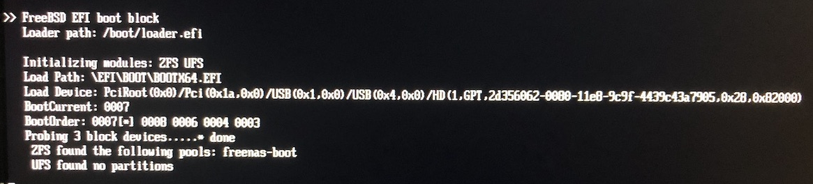 Unable to boot after upgrading to 11 2u1 | iXsystems Community