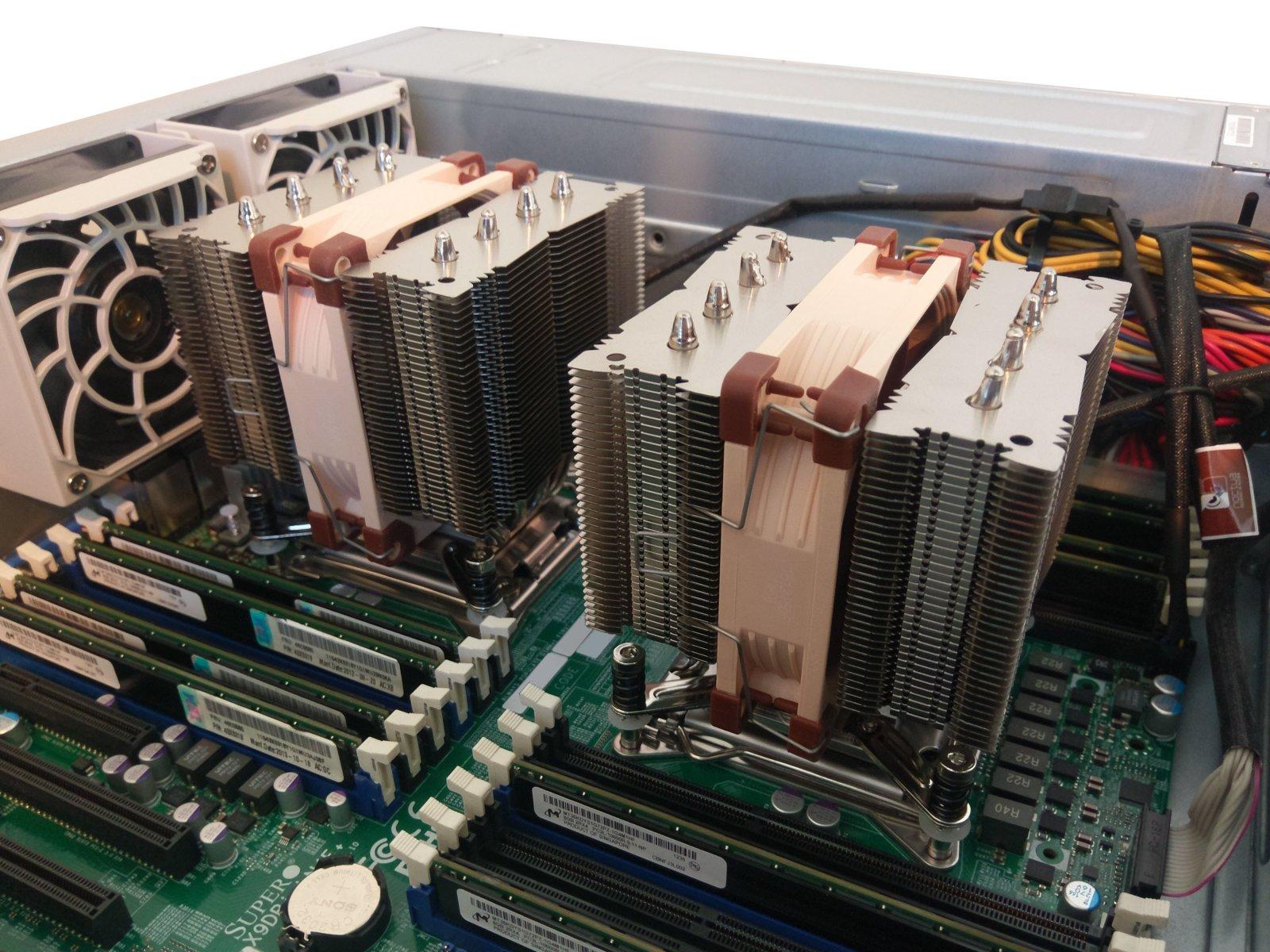 CPU Cooling Comparison: Noctua NH-D9DX i4 / NH-D9L   SuperMicro SNK