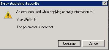 CIFS error
