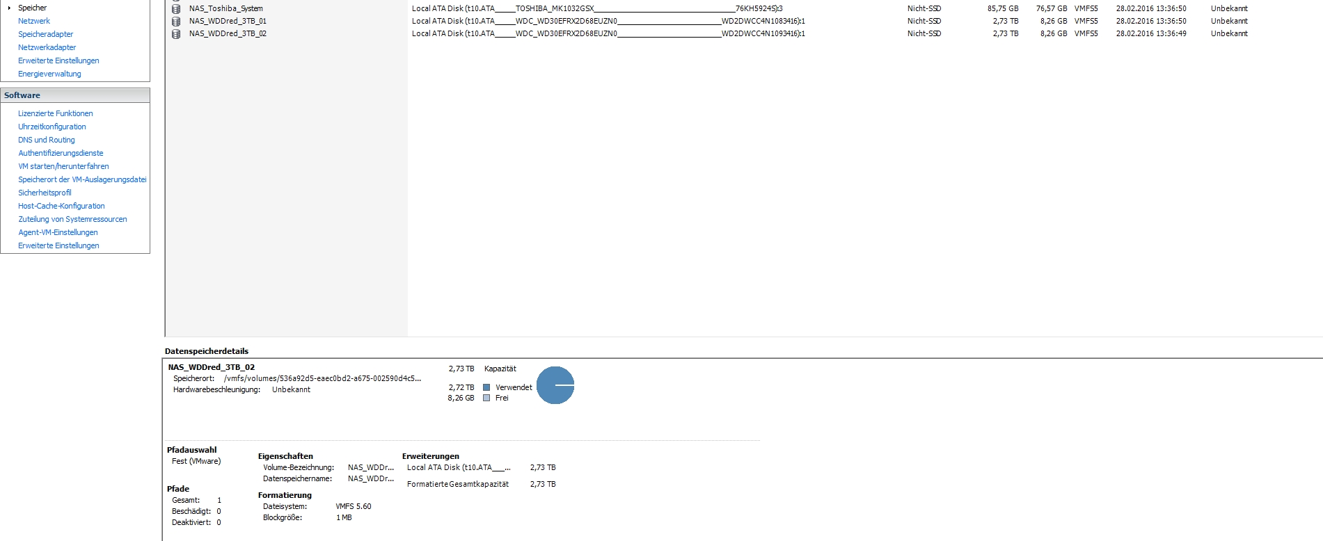 VMware - not able to boot FreeNAS with damaged storgae-HHD