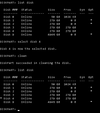 Unable to format disk | iXsystems Community