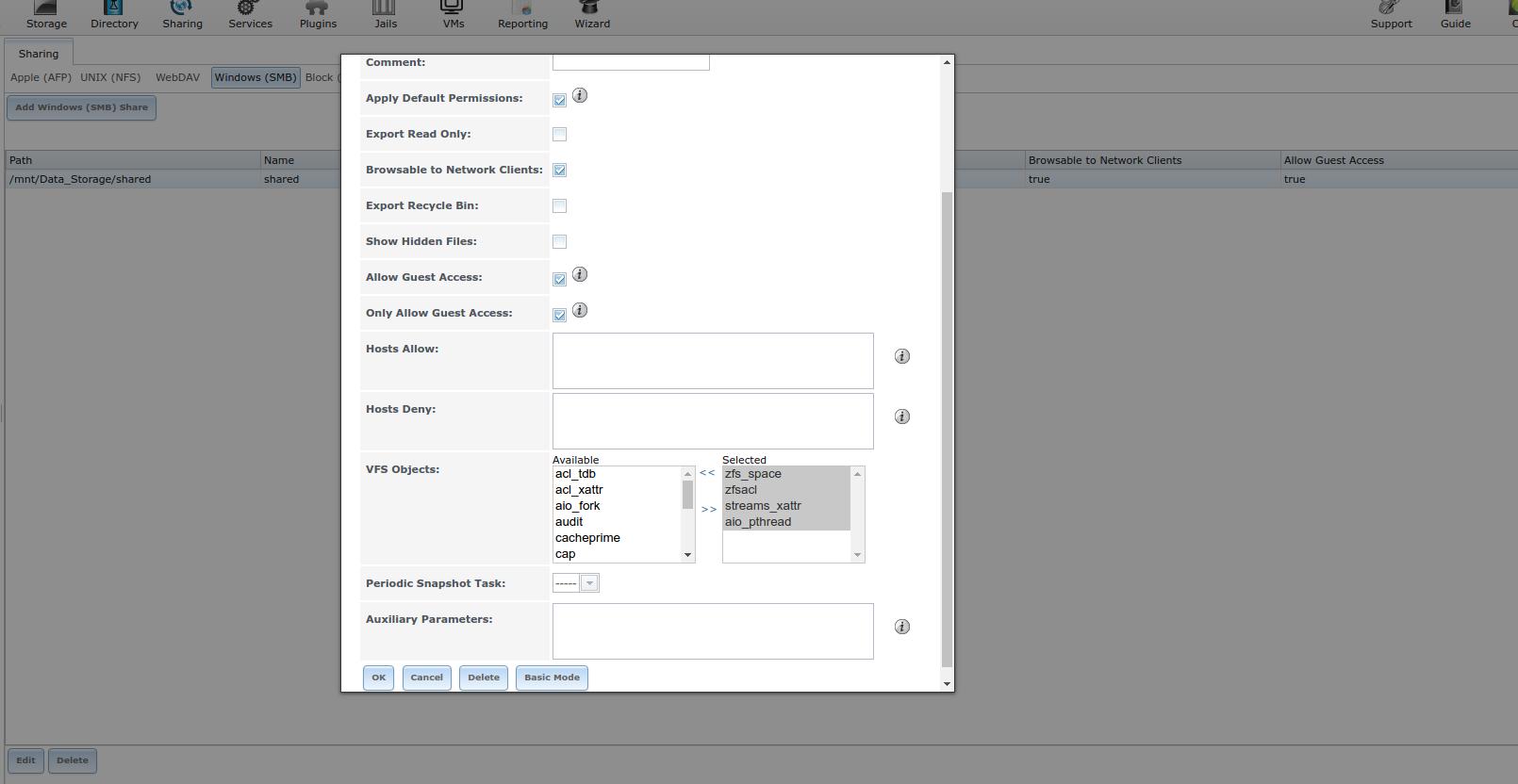smb guest access - v 11 | iXsystems Community