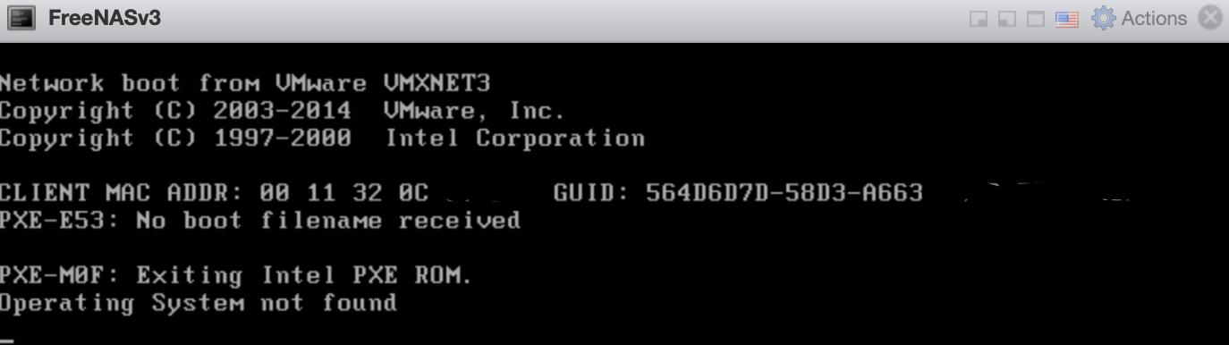 ESXi FreeNAS VM will not boot | iXsystems Community