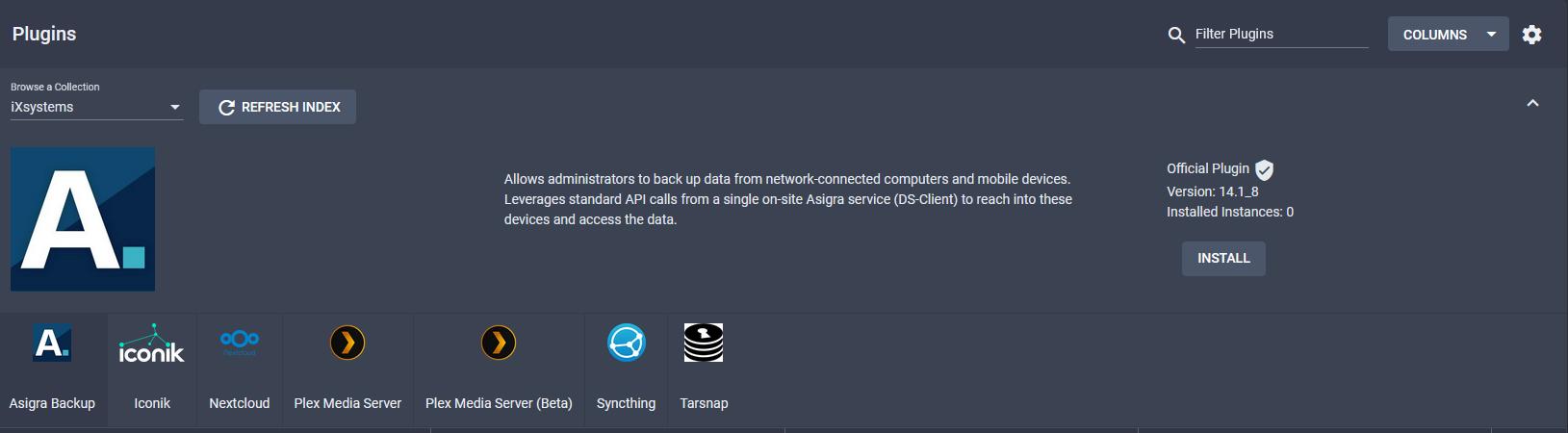 TrueNAS IXsystems plugins.PNG