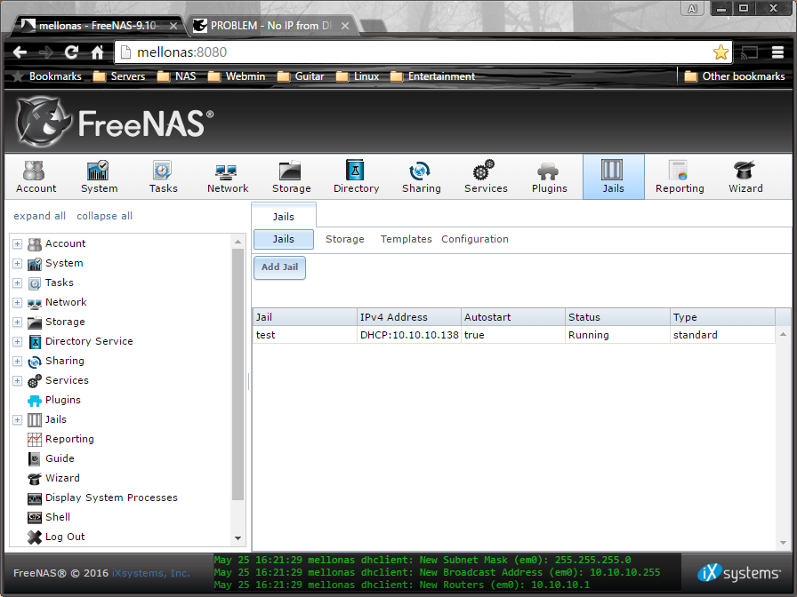 SOLVED - No IP from DHCP on jails - Moved to new ticket   iXsystems