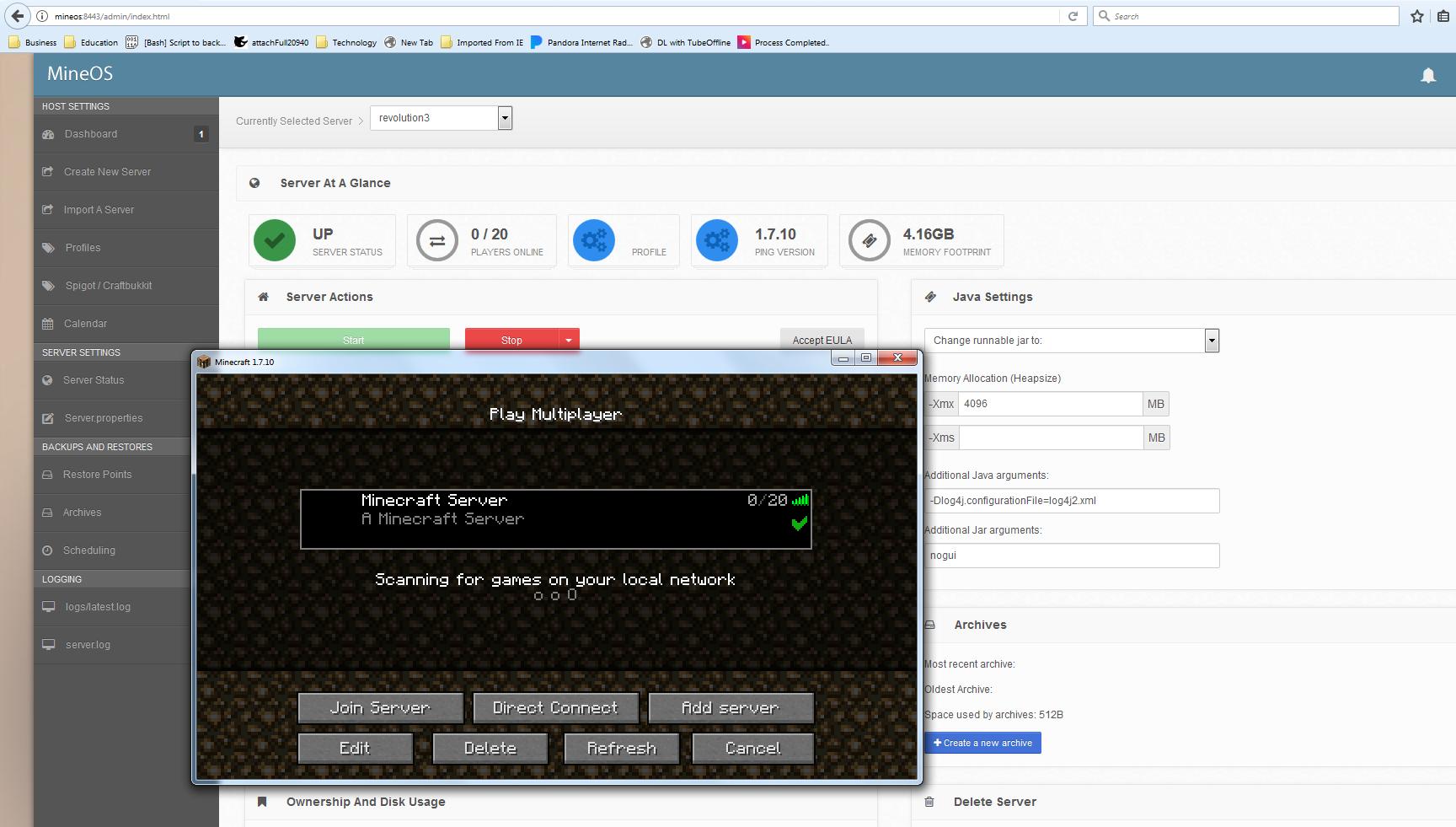 SOLVED Help setting up modded minecraft server? TrueNAS Community