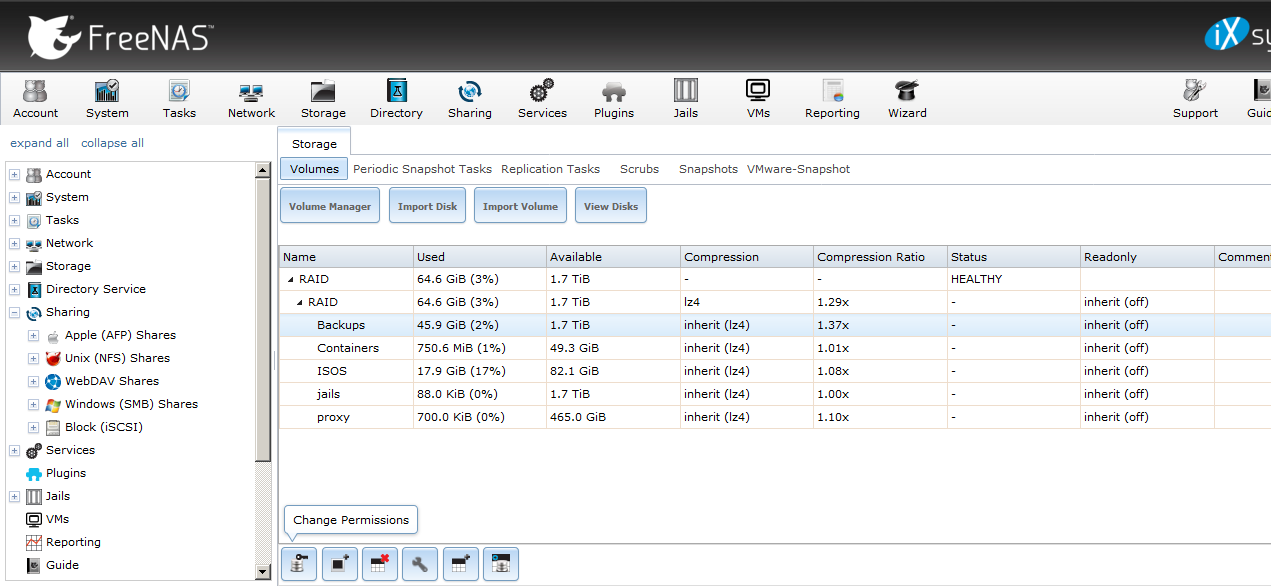 NFS sharing is not visible because a DNS issue on FreeNAS