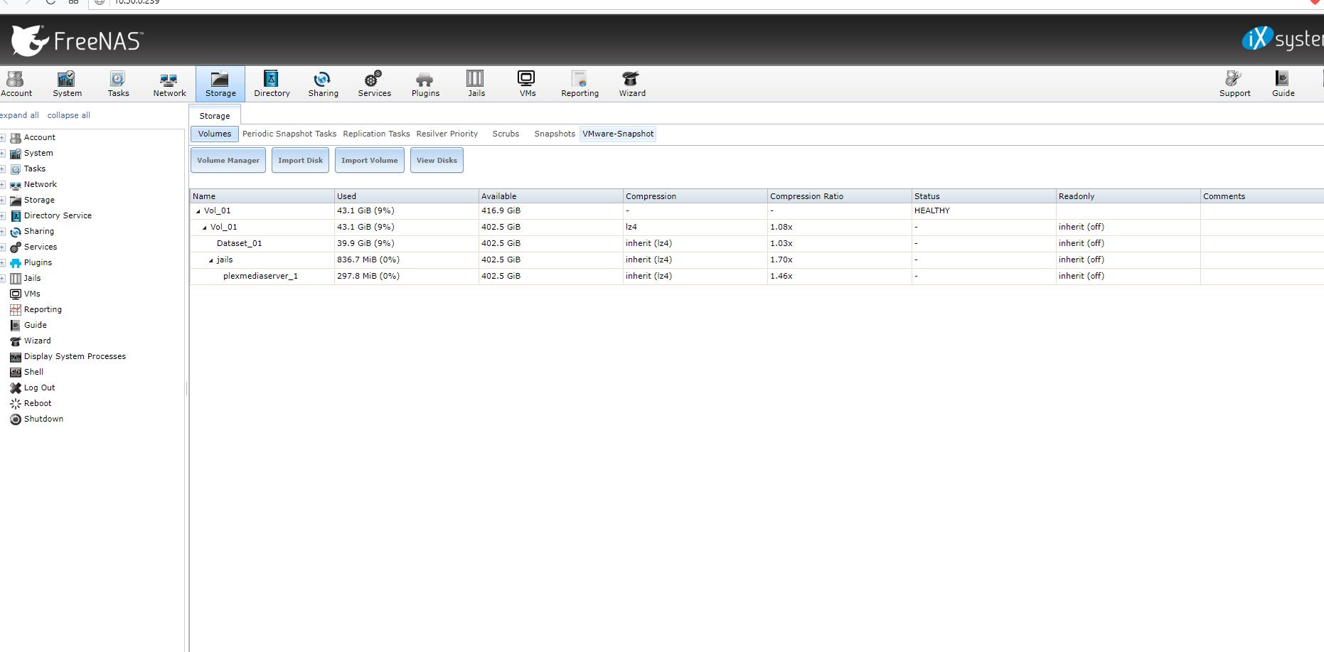 FreeNAS 11 1-U2 Plex Jail issues | iXsystems Community