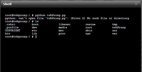 Help to setup tvhproxy please | iXsystems Community