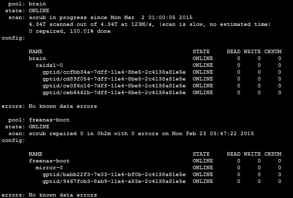 SOLVED - Scrub suddenly taking far longer   iXsystems Community