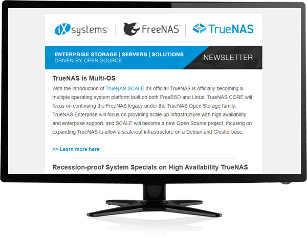 TrueNAS Newsletter