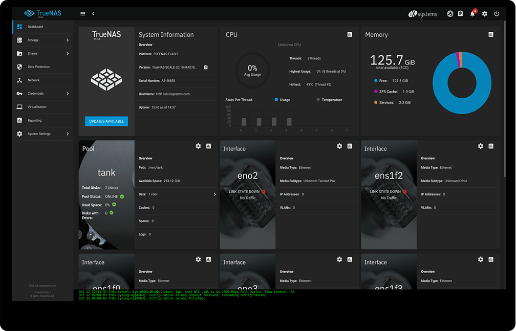 TrueNAS SCALE screenshot